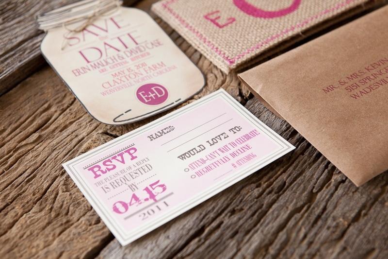 Burlap-pink-monogram-wedding-invitation-detail-hot-pink-wedding-colors-4.full