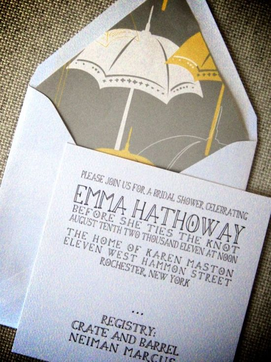 photo of It's Raining Bridal Shower Invitations