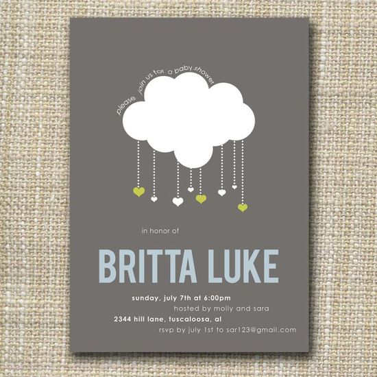 photo of Raining Hearts Wedding Invitations