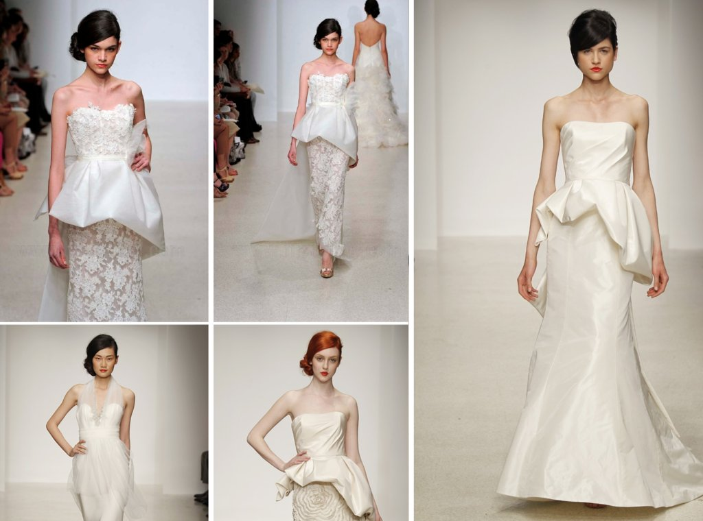 2013 wedding dress trends peplums Amsale