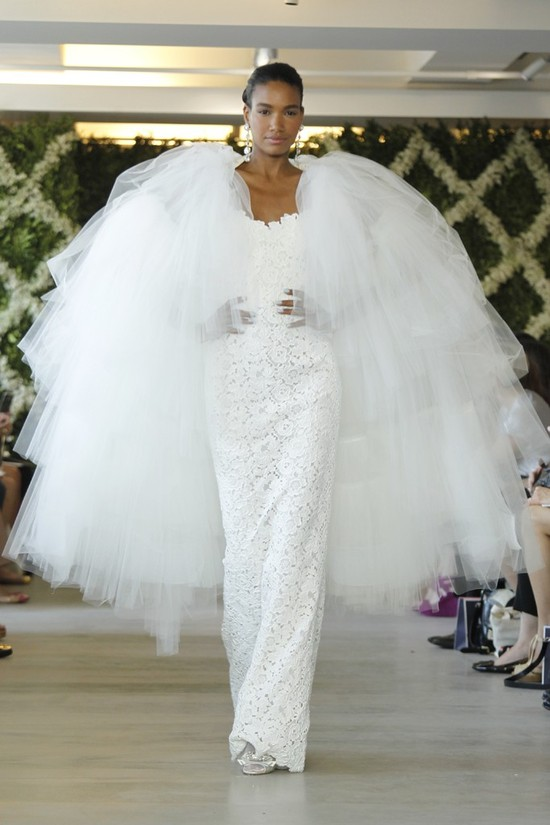 sheath wedding dress 2013 bridal gown by oscar de la renta