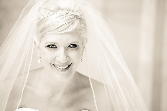 photo of bridal updo for brides with short hair