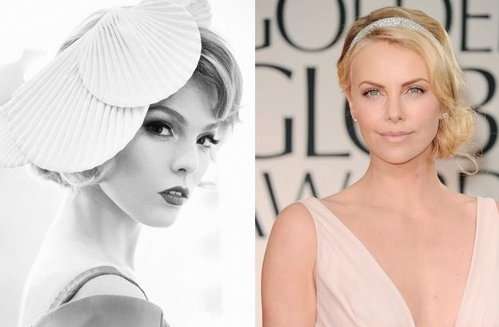 retro inspired wedding hair short bridal hairstyles blonde brides