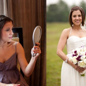 Cute Wedding Hairstyle For Short Hair Brides - Bridesmaid hairstyle straight hair