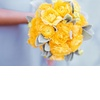Bright-yellow-bridal-bouquet-velvety-leaf-details.square