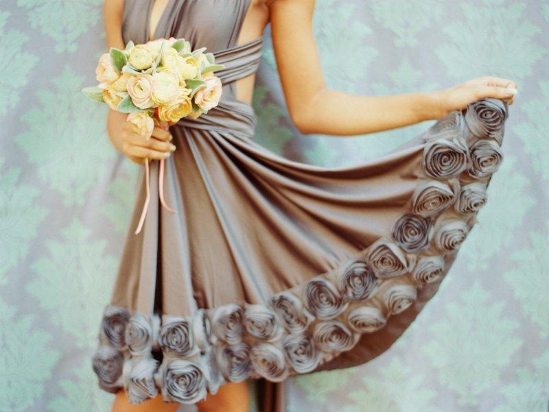 Simple-bridesmaid-bouquet-light-pink-anemones-gray-bridesmaid-dress.full