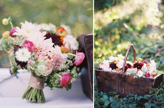 wedding flower inspiration from the brides cafe rustic wedding centerpiece bridal bouquet