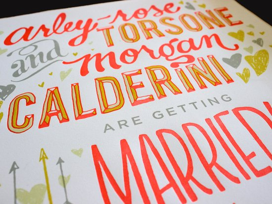 drool worthy wedding invitations unique wedding paper Ladyfingers Letterpress 6 neon