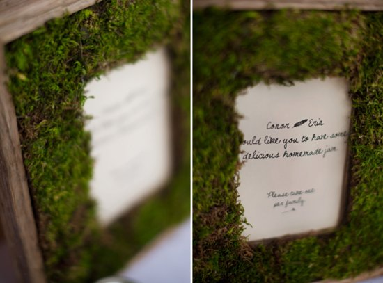 moss framed wedding paper reception decor wedding DIY