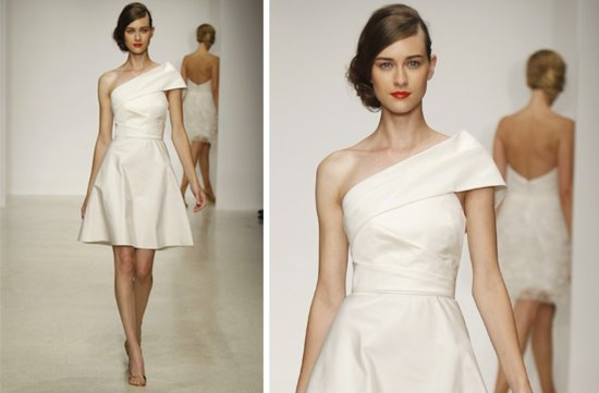 prettiest little white wedding dresses spring 2013 amsale 2
