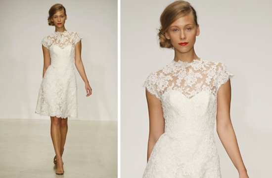 pretties little white wedding dresses spring 2013 Amsale lace