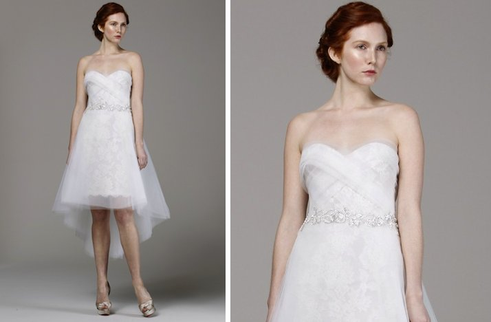 prettiest little white wedding dresses spring 2013 Marchesa tulle lace