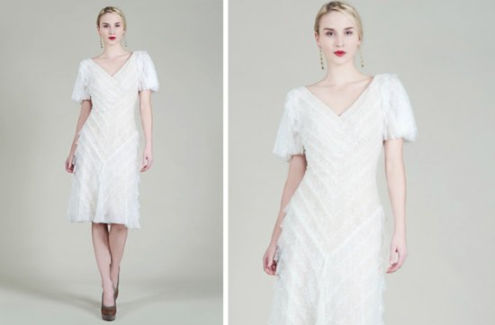prettiest little white wedding dresses spring 2013 Tadashi Shoji 2