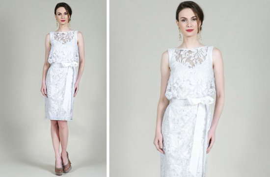 prettiest little white wedding dresses spring 2013 Tadashi Shoji 3