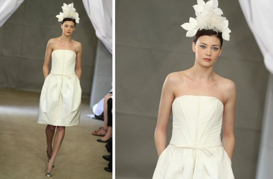 pretties little white wedding dresses spring 2013 Carolina Herrera