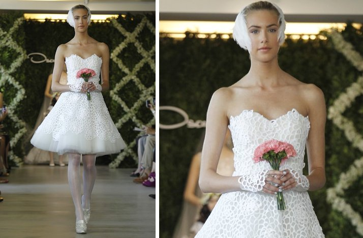 pretties little white wedding dresses spring 2013 Oscar de la Renta 2