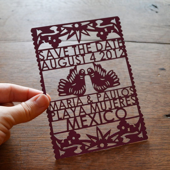 festive wedding invitations laser cut wedding stationery Mexican theme