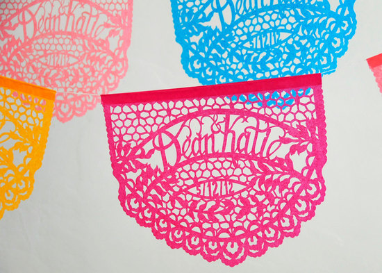 photo of Personalized Papel Picado banners