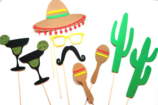 mexican themed wedding reception photo booth props