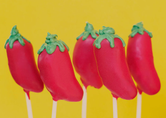 festive wedding cake pops chili peppers