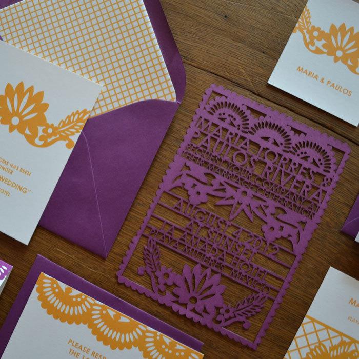 cinco de mayo wedding ideas laser cut wedding invitations