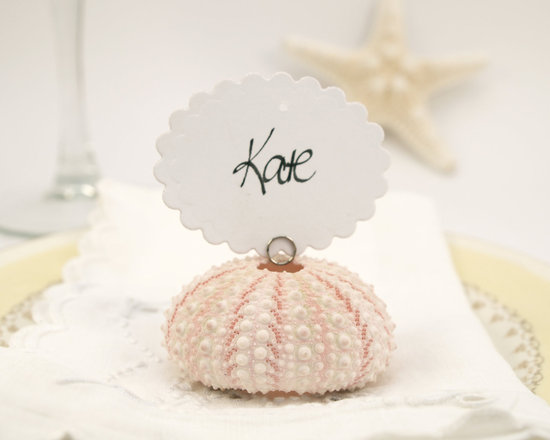 photo of Pink Urchin escort card holders