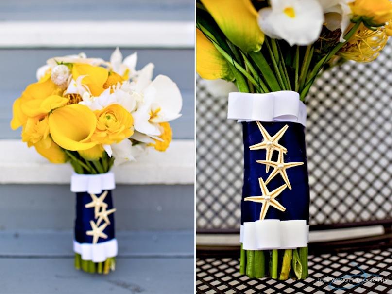 Nautical-wedding-theme-navy-blue-yellow-wedding-flowers-bouquets.full