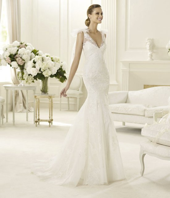 spring 2013 wedding dress manuel mota for pronovias bridal gowns 2