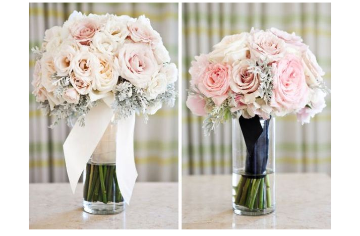 Wedding Bouquets Pink And Ivory: Bridesmaids wedding posy bouquet ...