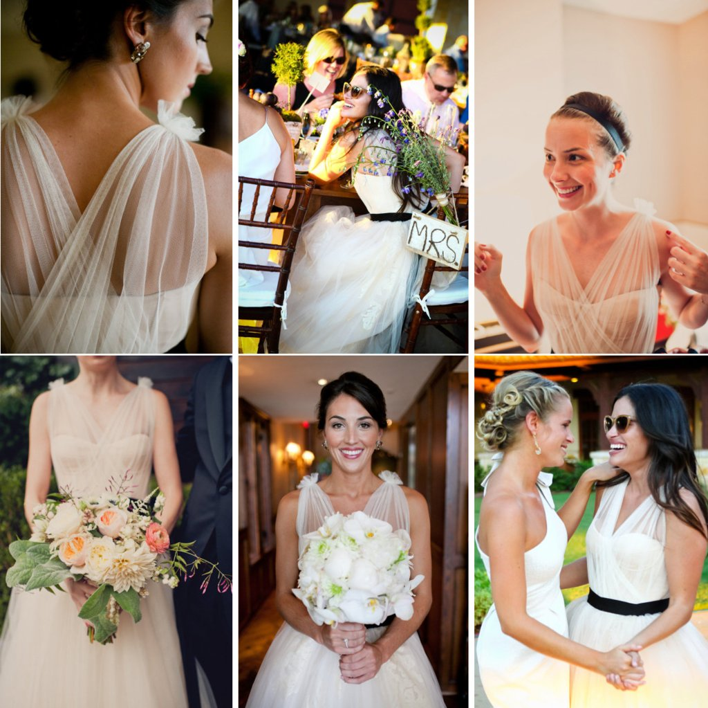 one wedding dress by vera wang three brides 3 different white aisle looks