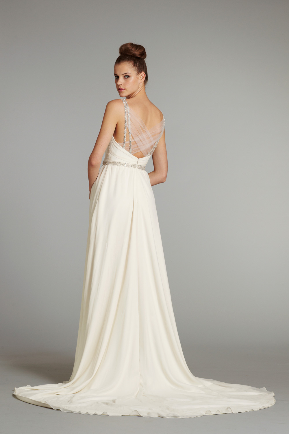 new bridal gowns fall 2012 wedding dress hayley paige for jlm couture nina. Black Bedroom Furniture Sets. Home Design Ideas