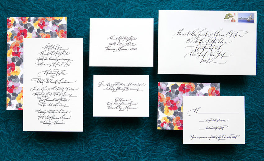 handmade wedding invitations elegant calligraphy by Paperfingers new wedding stationery collection 2