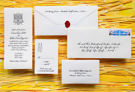 handmade wedding invitations elegant calligraphy by Paperfingers new wedding stationery collection 4