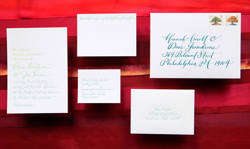 handmade wedding invitations elegant calligraphy by Paperfingers new wedding stationery collection 6
