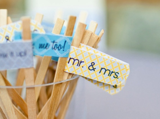 Creative wedding ideas from Etsy Mr and Mrs decor drink stirs.