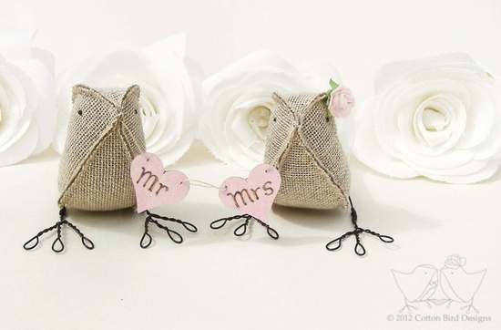 Mr and Mrs wedding decor rustic wedding cake topper.