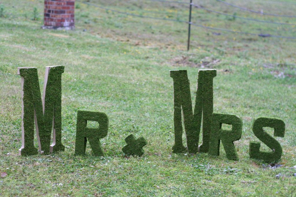 Creative-wedding-ideas-from-etsy-mr-and-mrs-decor-moss-sign-2.full
