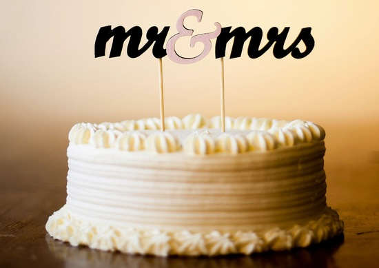 Creative wedding ideas from Etsy Mr and Mrs decor cake topper.