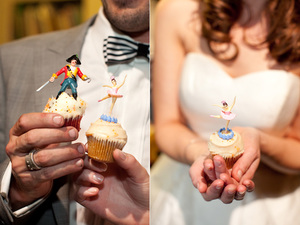 photo of Artsy Halloween Wedding in Los Angeles- bride and groom
