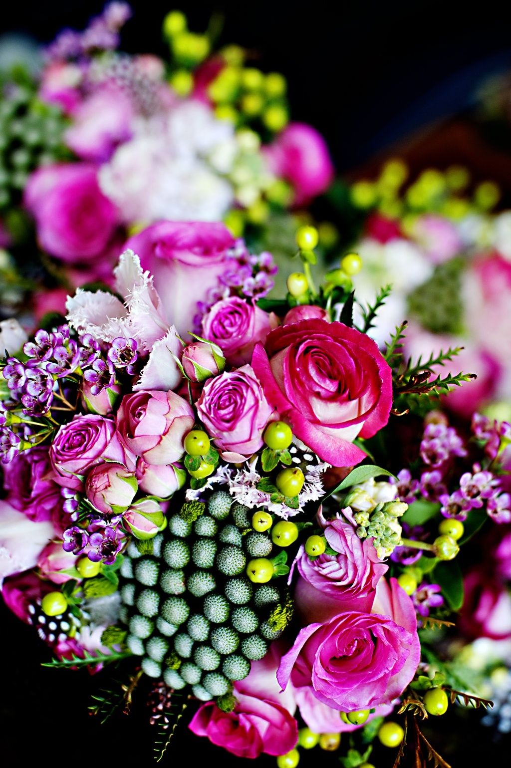Real-weddings-winter-wedding-reception-bright-wedding-flowers.full