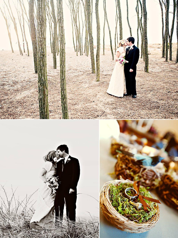 Backyard Winter Wedding Decoration Ideas : winter wedding in Seattle outdoor wedding photos with bridal party