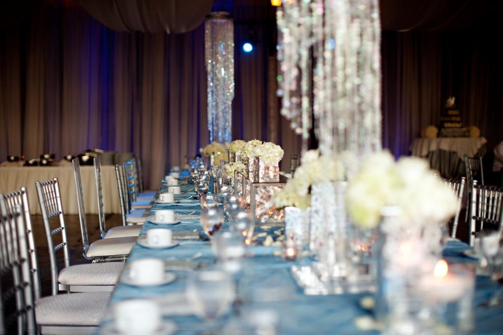 Elegant Spring Wedding With Blue Silver Ivory Wedding Color