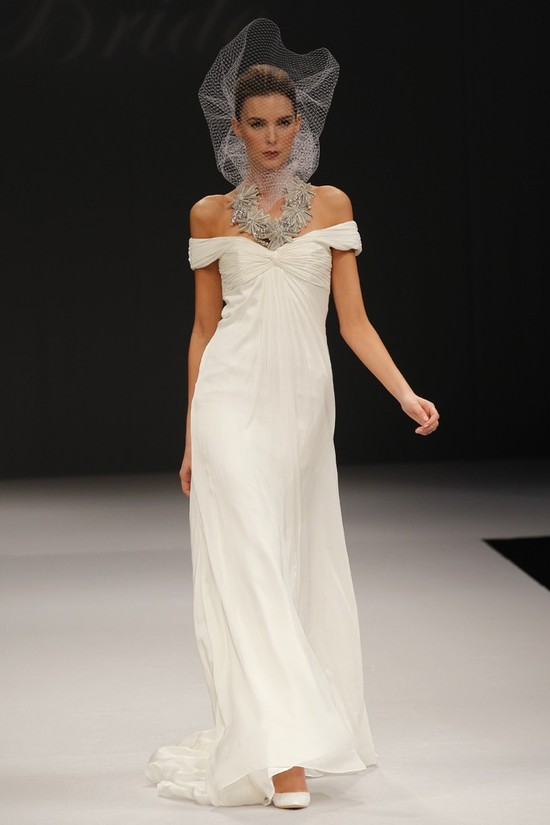Badgley Mischka wedding dresses, Spring 2012 bridal gown- on-trend sleeves