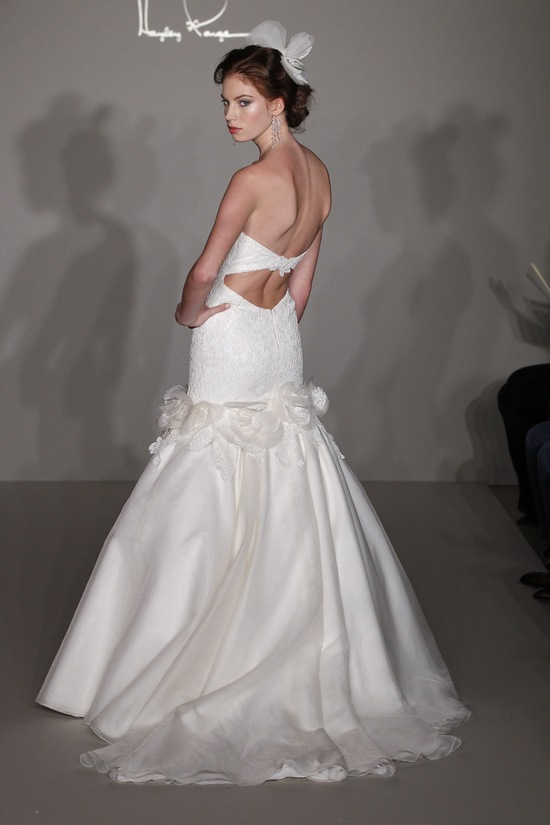 Hayley paige 2012 wedding dress lace mermaid with open for Heart shaped mermaid wedding dresses