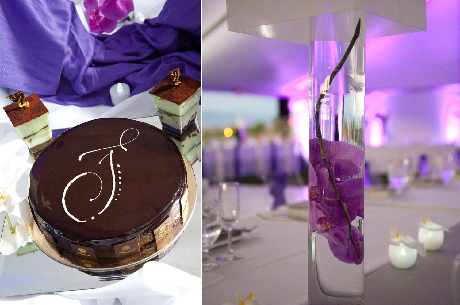 Purple And Silver Centerpieces For Wedding Reception