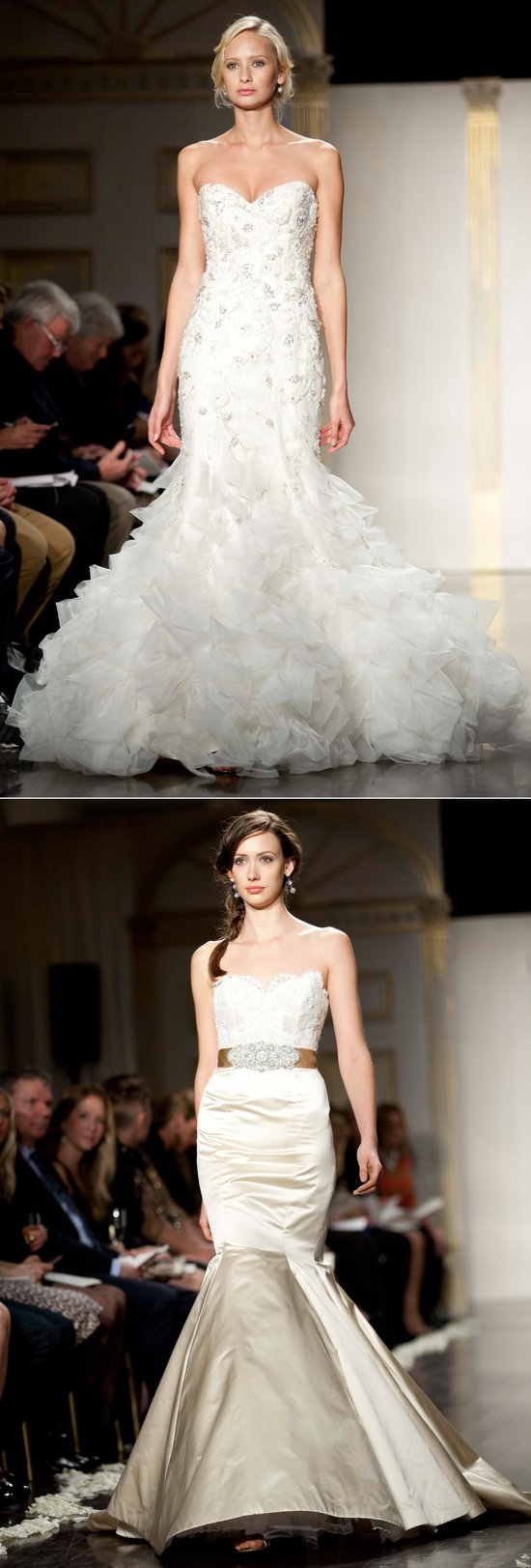 2012 mermaid wedding dresses by Lazaro and Jim Hjelm