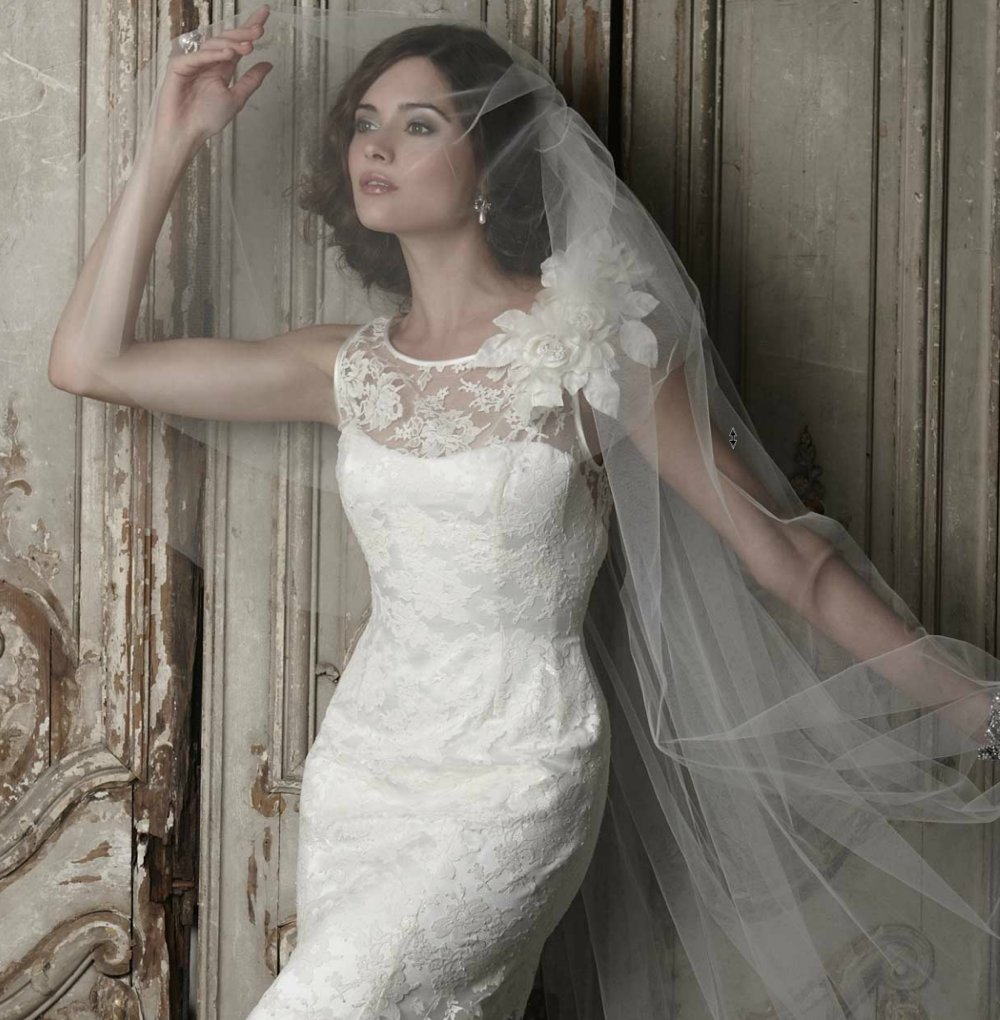sassi holford wedding dress 2012 bridal gowns couture cap sleeves bridal veil