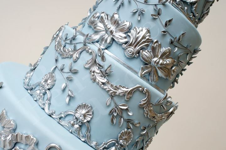 wedding-cake-inspiration-Ron-Ben-Isreal-Cakes-ice-blue-silver