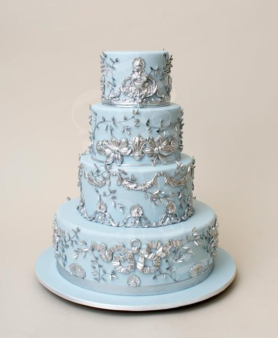 wedding-cake-inspiration-Ron-Ben-Isreal-Cakes-ice-blue-silver-2