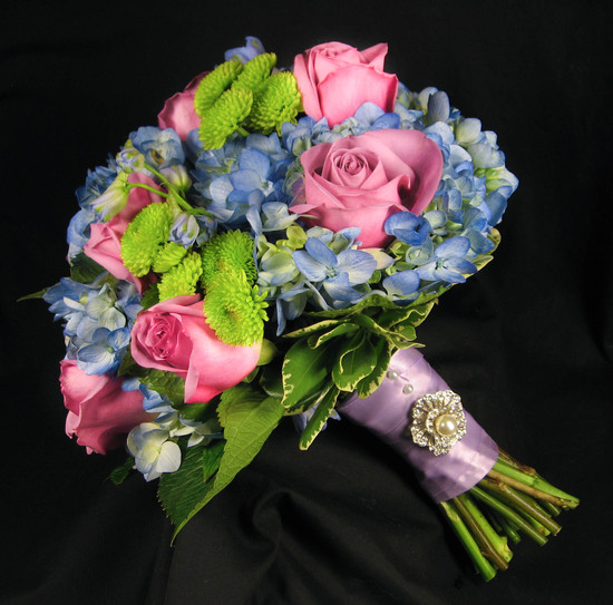 blue lavender bouquet